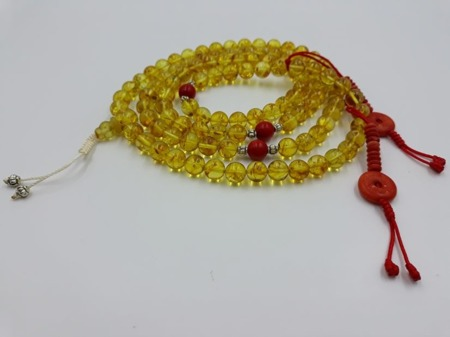 Mala 108 - honey amber 8 mm