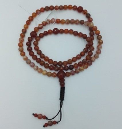 Mala 108 - red agate 8 mm